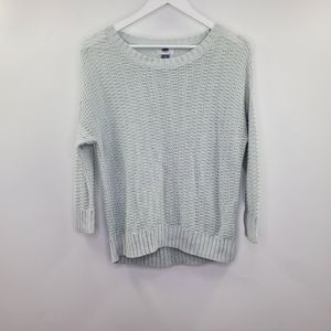 Old Navy Cable Knit Sweater Light Blue Doleman